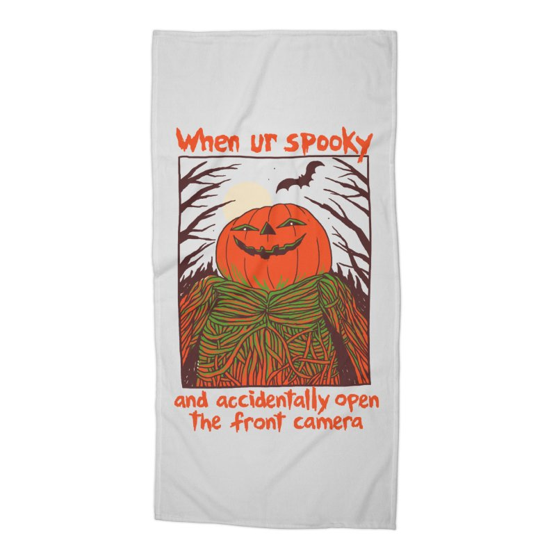 Spooky Selfie Accessories Beach Towel by Hillary White