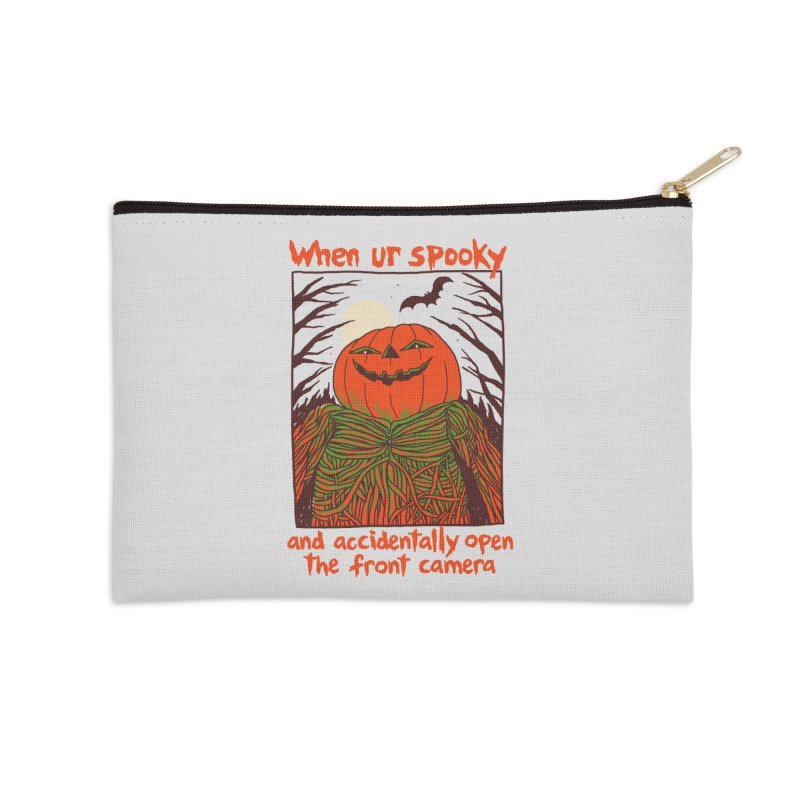 Spooky Selfie Accessories Zip Pouch by Hillary White
