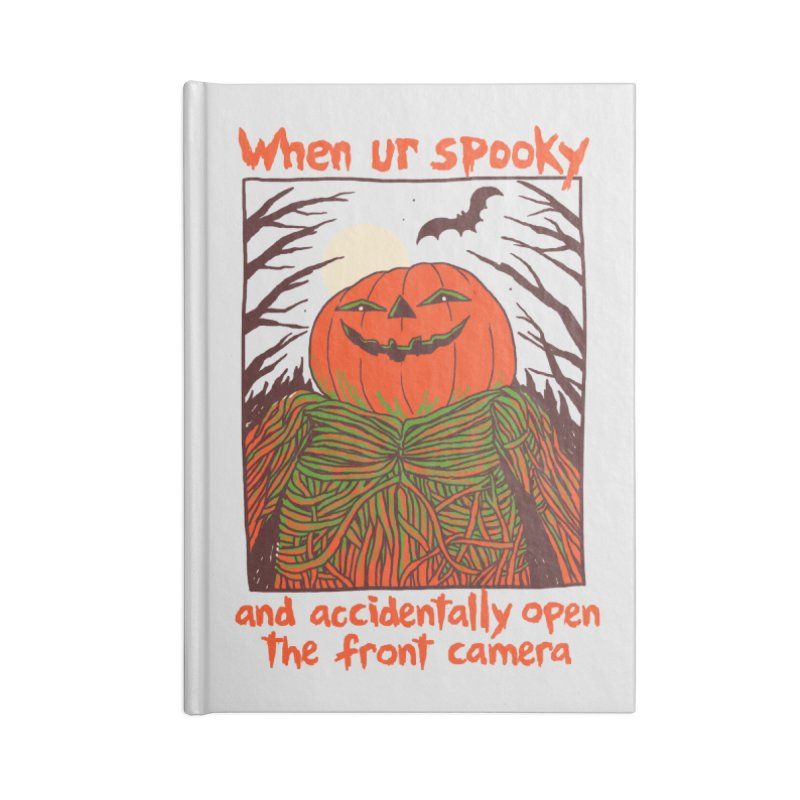 Spooky Selfie Accessories Lined Journal Notebook by Hillary White