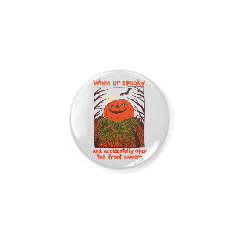Spooky Selfie Accessories Button by Hillary White