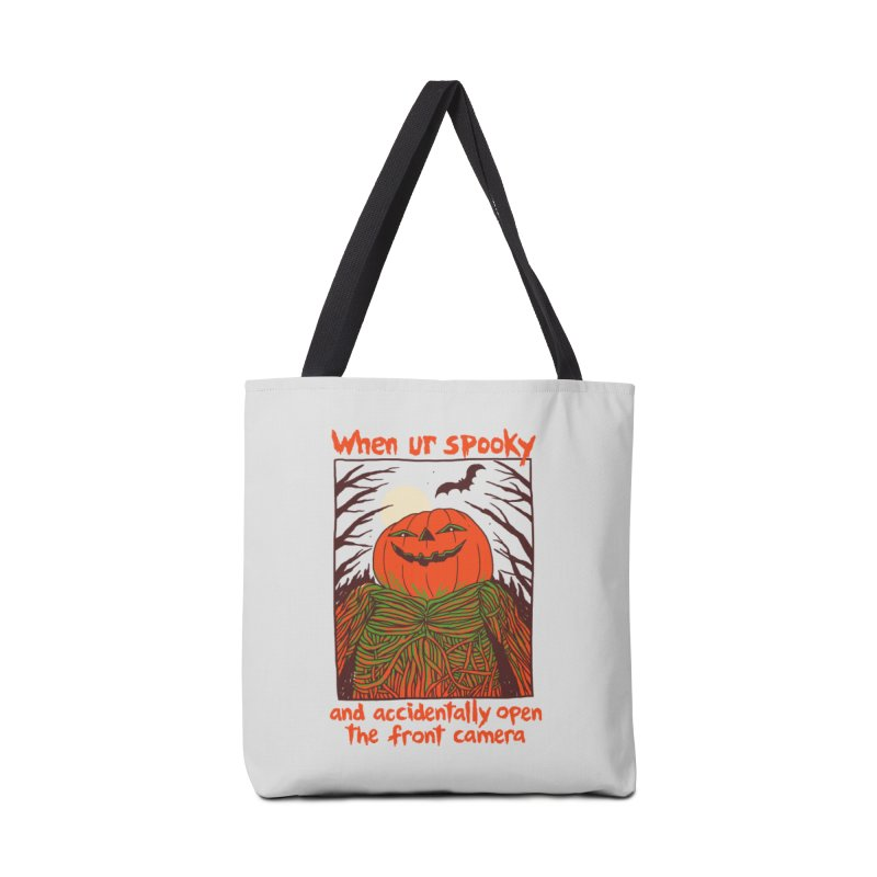 Spooky Selfie Accessories Tote Bag Bag by Hillary White