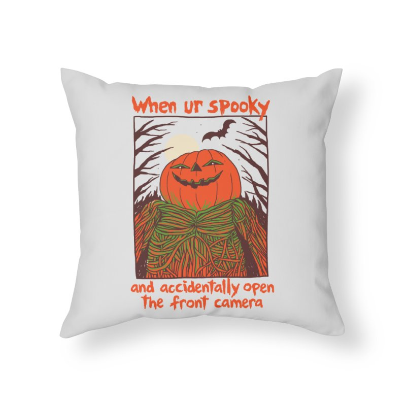 Spooky Selfie Home Throw Pillow by Hillary White