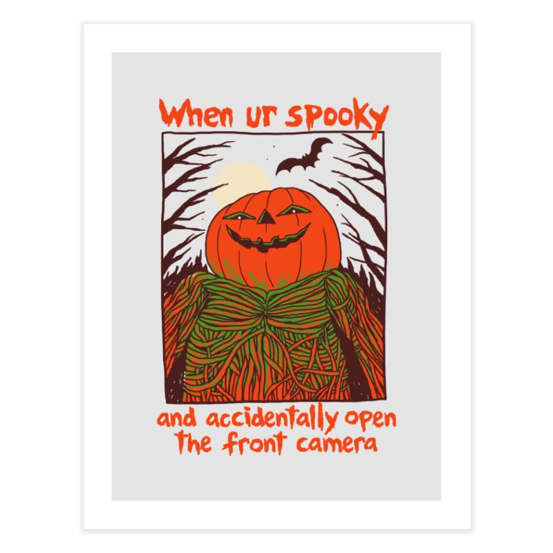 Spooky Selfie Home Fine Art Print by Hillary White