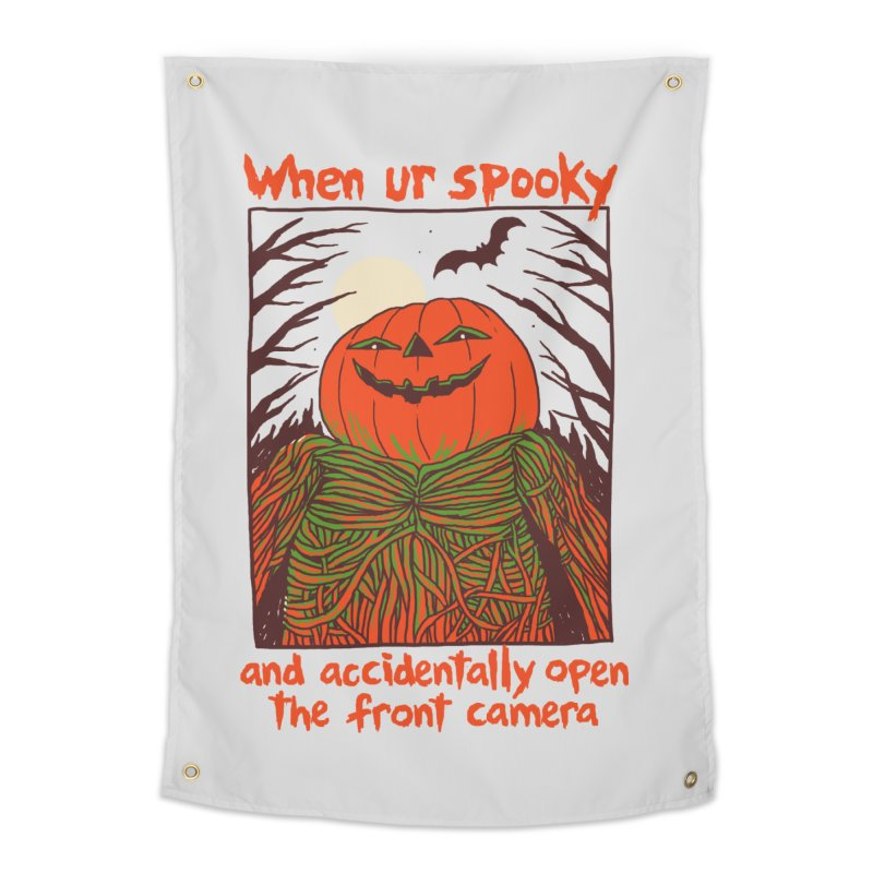Spooky Selfie Home Tapestry by Hillary White