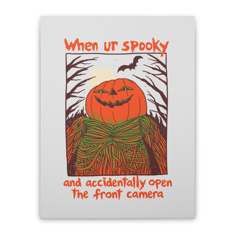 Spooky Selfie Home Stretched Canvas by Hillary White