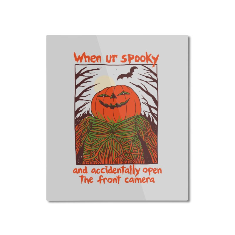 Spooky Selfie Home Mounted Aluminum Print by Hillary White