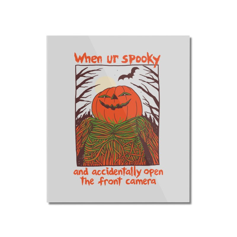 Spooky Selfie Home Mounted Acrylic Print by Hillary White