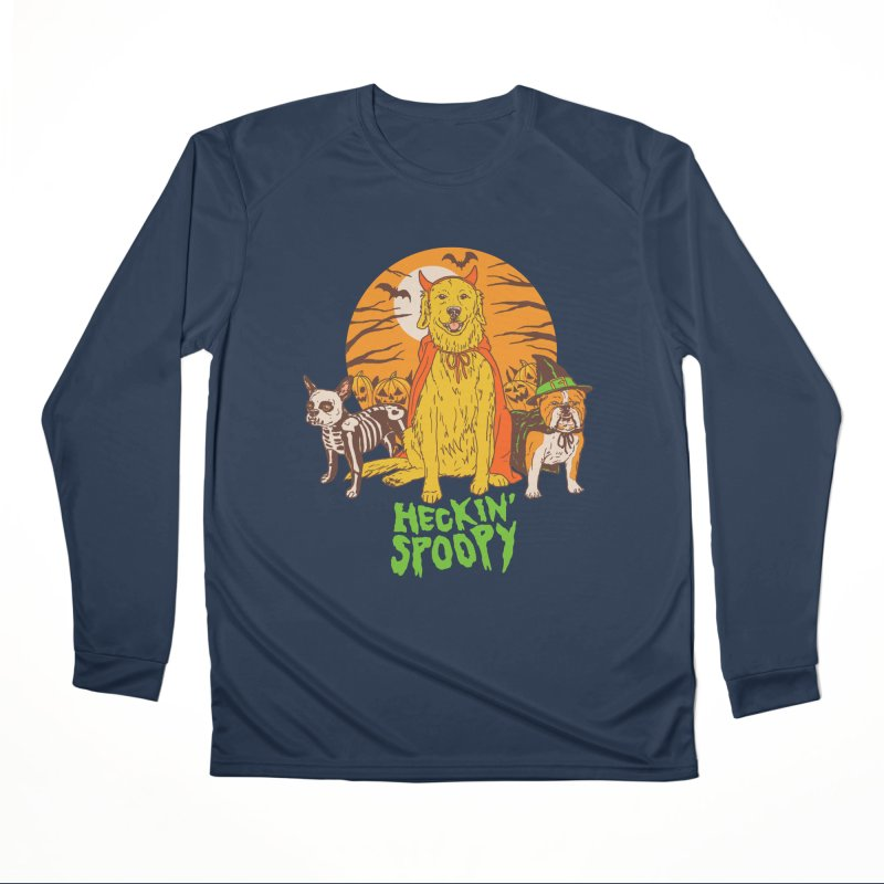 Heckin' Spoopy Women's Performance Unisex Longsleeve T-Shirt by Hillary White