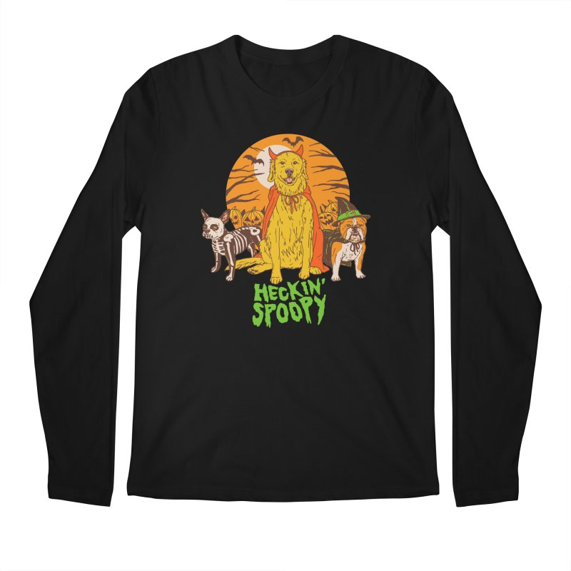 Heckin' Spoopy Men's Regular Longsleeve T-Shirt by Hillary White