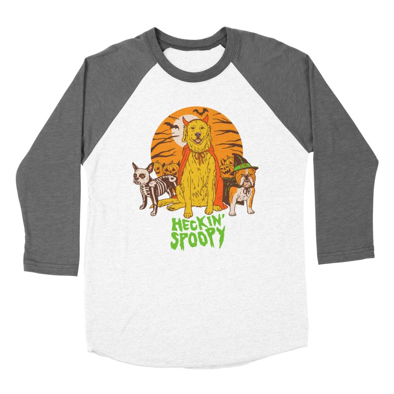 Heckin' Spoopy Women's Baseball Triblend Longsleeve T-Shirt by Hillary White