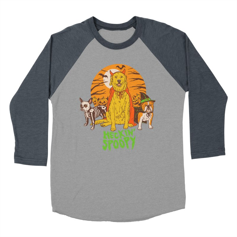 Heckin' Spoopy Men's Baseball Triblend Longsleeve T-Shirt by Hillary White