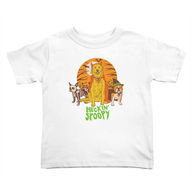 Heckin' Spoopy Kids Toddler T-Shirt by Hillary White