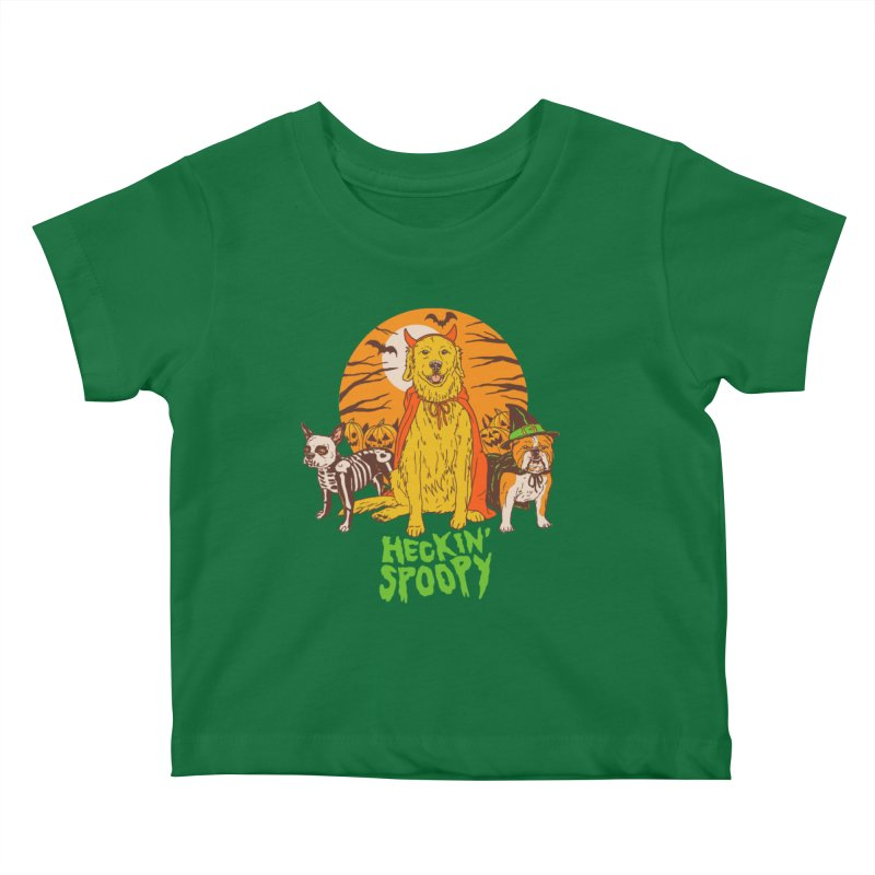 Heckin' Spoopy Kids Baby T-Shirt by Hillary White