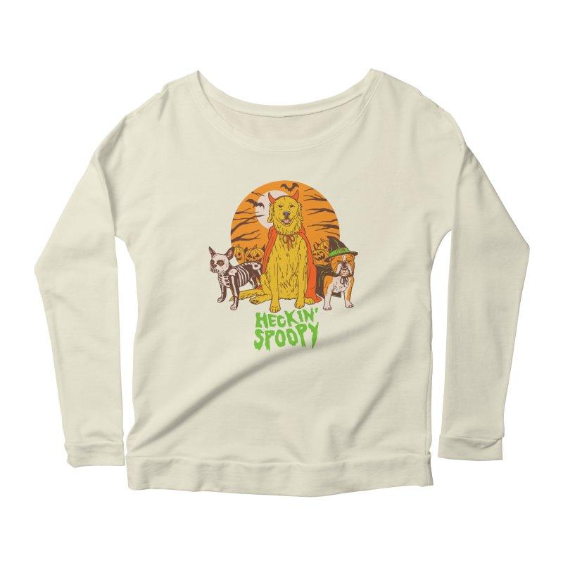 Heckin' Spoopy Women's Scoop Neck Longsleeve T-Shirt by Hillary White