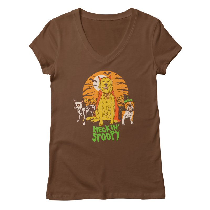 Heckin' Spoopy Women's Regular V-Neck by Hillary White