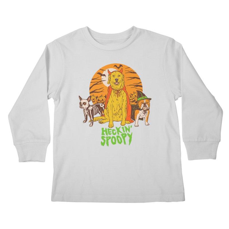Heckin' Spoopy Kids Longsleeve T-Shirt by Hillary White