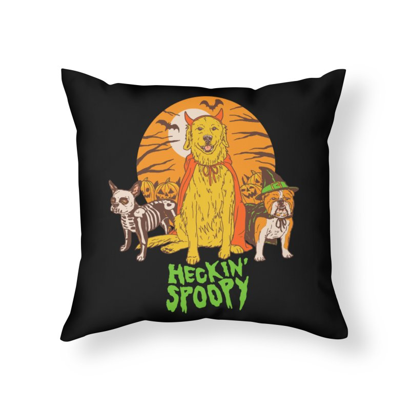 Heckin' Spoopy Home Throw Pillow by Hillary White