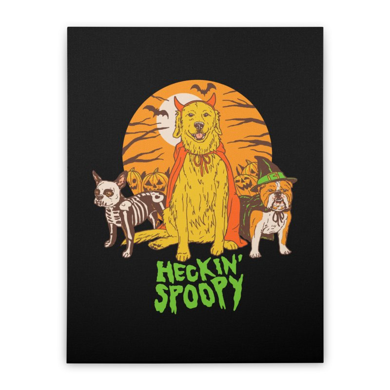 Heckin' Spoopy Home Stretched Canvas by Hillary White