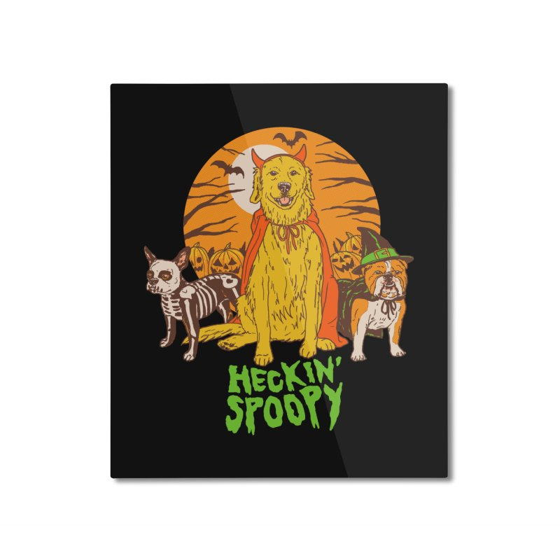Heckin' Spoopy Home Mounted Aluminum Print by Hillary White