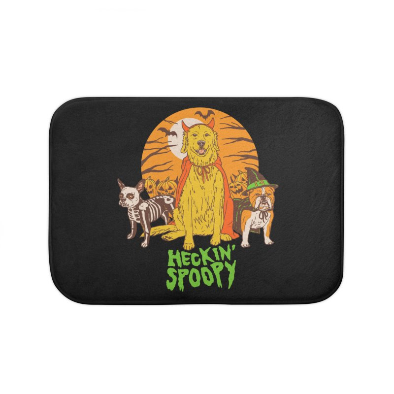 Heckin' Spoopy Home Bath Mat by Hillary White