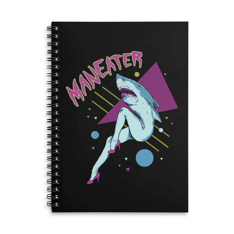 Maneater Accessories Lined Spiral Notebook by Hillary White