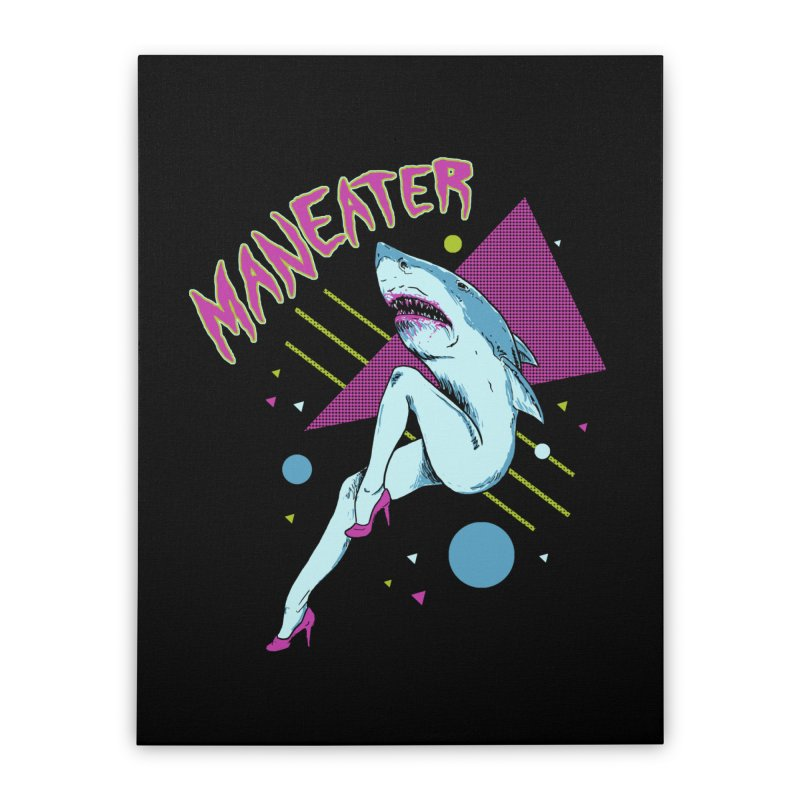 Maneater Home Stretched Canvas by Hillary White