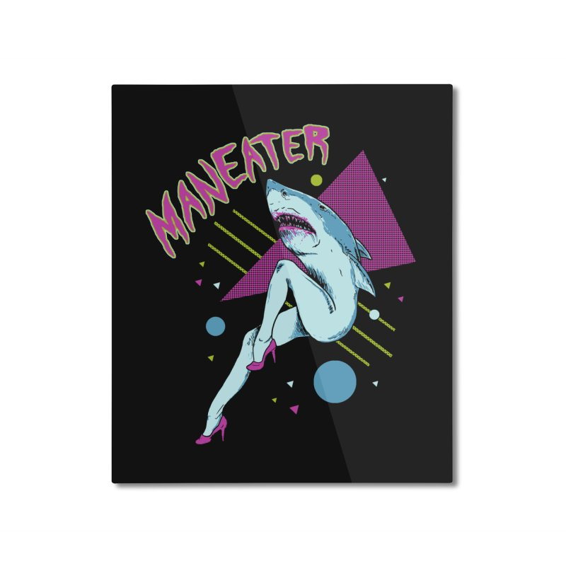 Maneater Home Mounted Aluminum Print by Hillary White