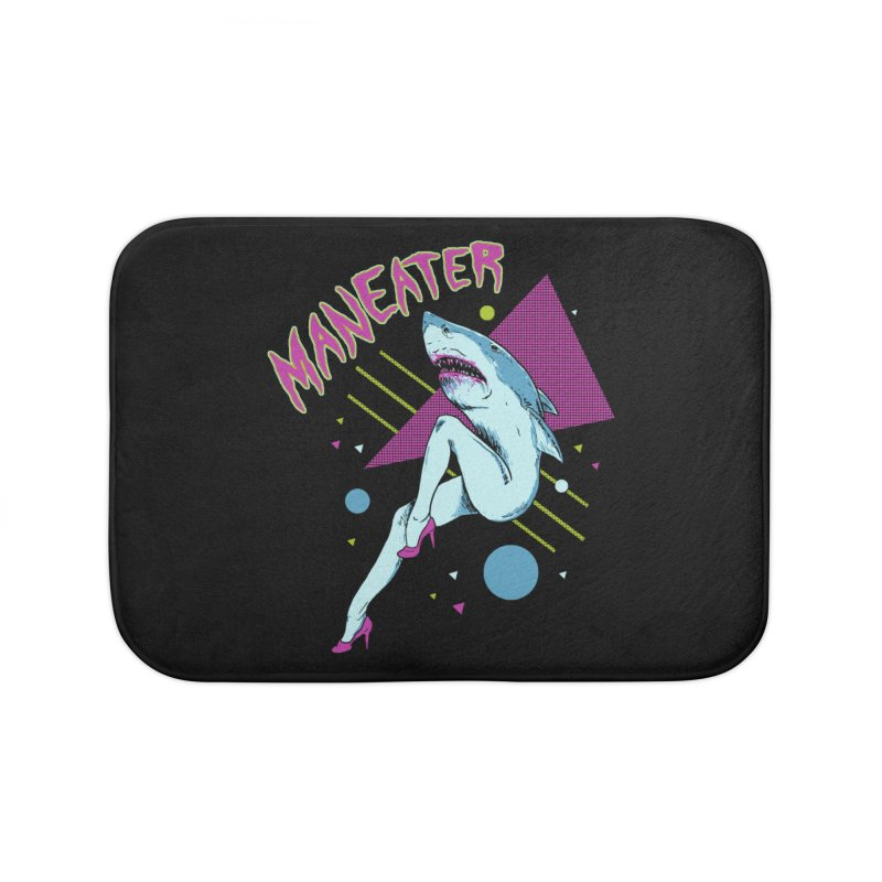 Maneater Home Bath Mat by Hillary White