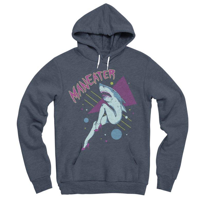 Maneater Men's Sponge Fleece Pullover Hoody by Hillary White