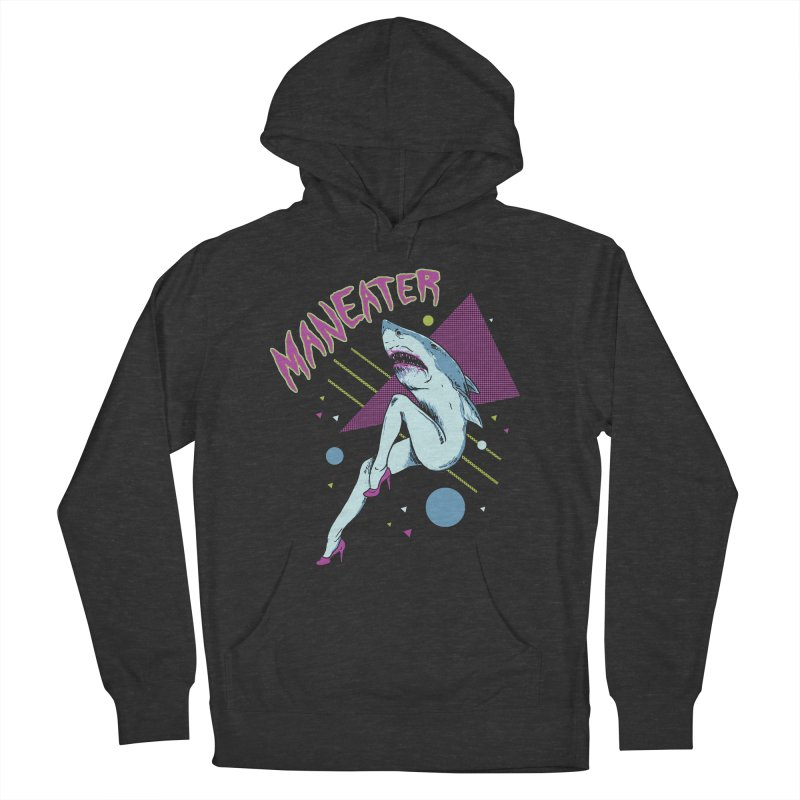 Maneater Men's French Terry Pullover Hoody by Hillary White