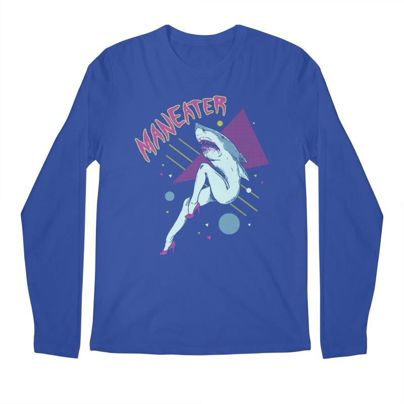Maneater Men's Regular Longsleeve T-Shirt by Hillary White