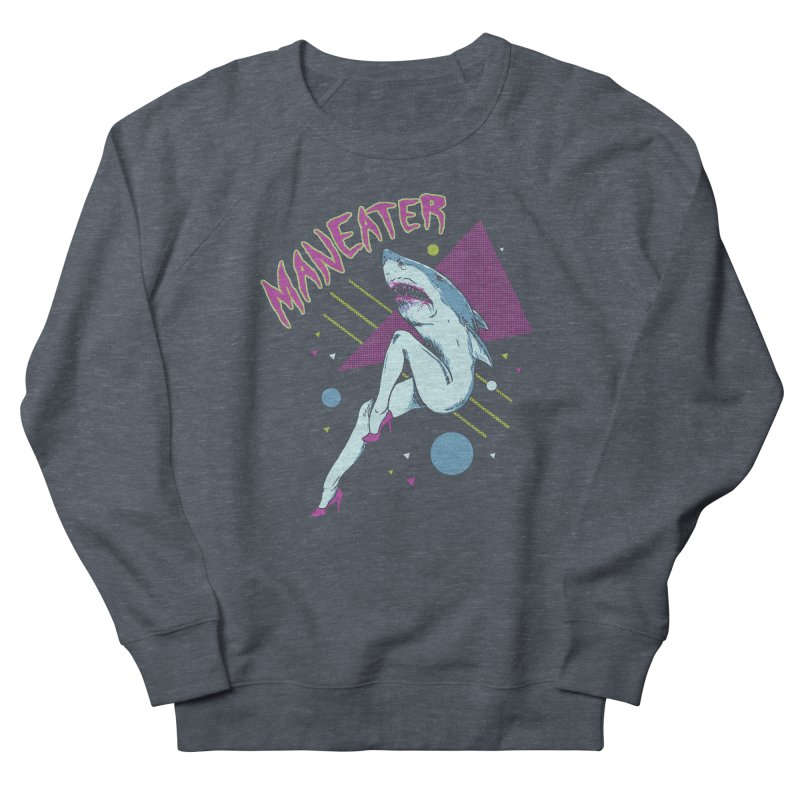Maneater Men's French Terry Sweatshirt by Hillary White
