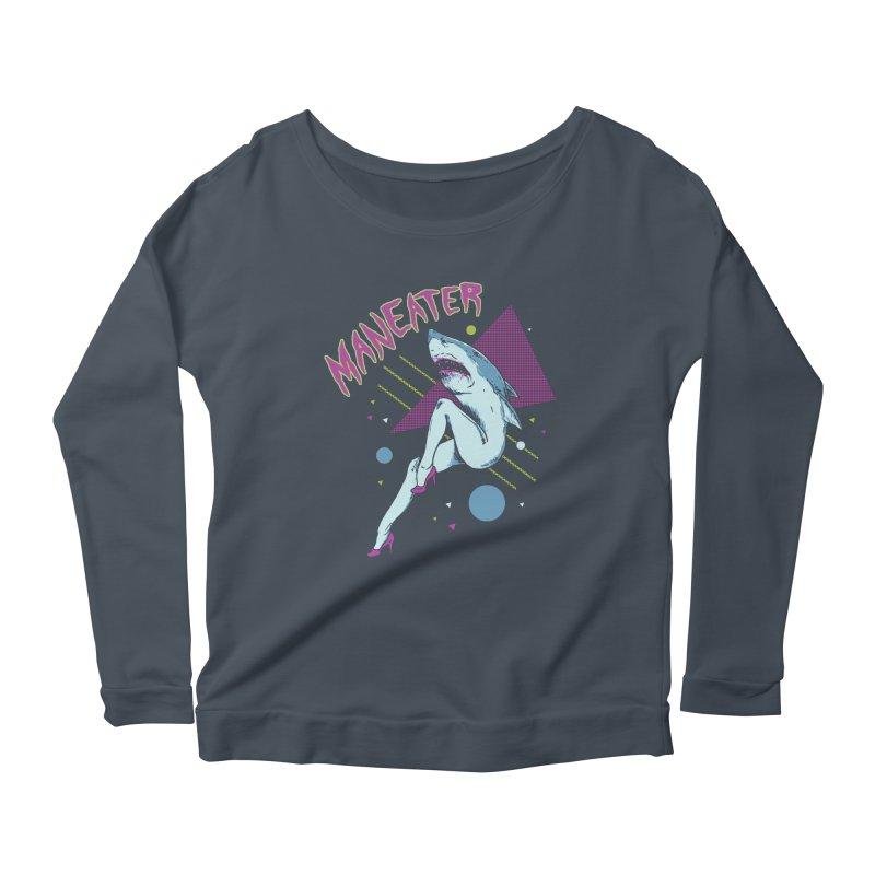 Maneater Women's Scoop Neck Longsleeve T-Shirt by Hillary White