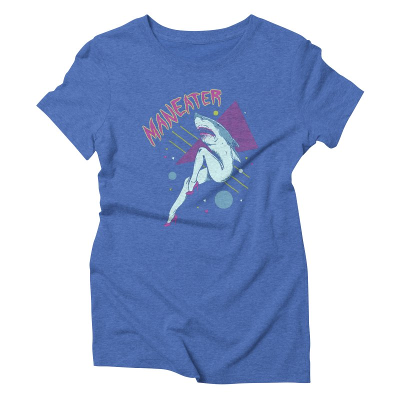 Maneater Women's Triblend T-Shirt by Hillary White