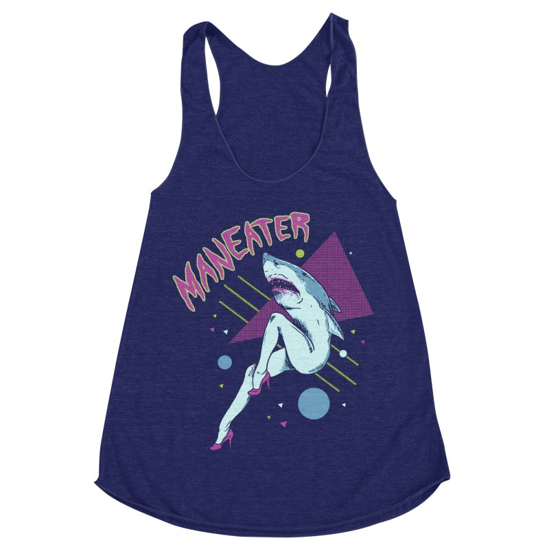 Maneater Women's Racerback Triblend Tank by Hillary White