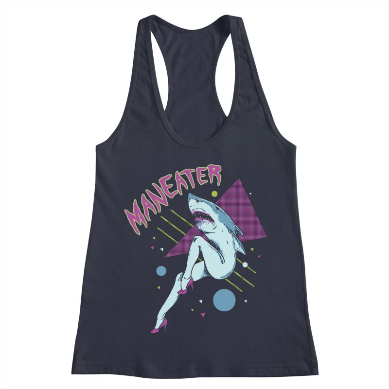 Maneater Women's Racerback Tank by Hillary White
