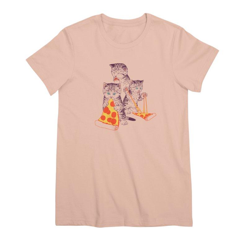 Pizza Kittens Women's Premium T-Shirt by Hillary White