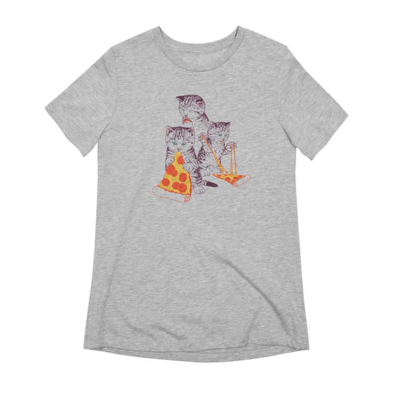 Pizza Kittens Women's Extra Soft T-Shirt by Hillary White