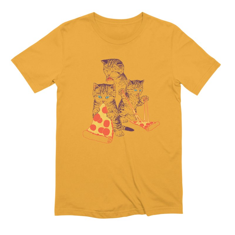 Pizza Kittens Men's Extra Soft T-Shirt by Hillary White