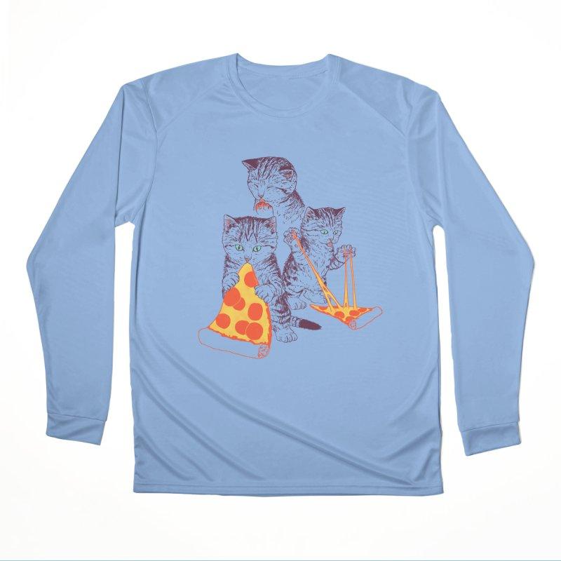 Pizza Kittens Women's Performance Unisex Longsleeve T-Shirt by Hillary White