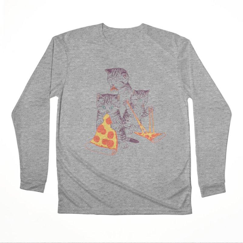Pizza Kittens Men's Performance Longsleeve T-Shirt by Hillary White