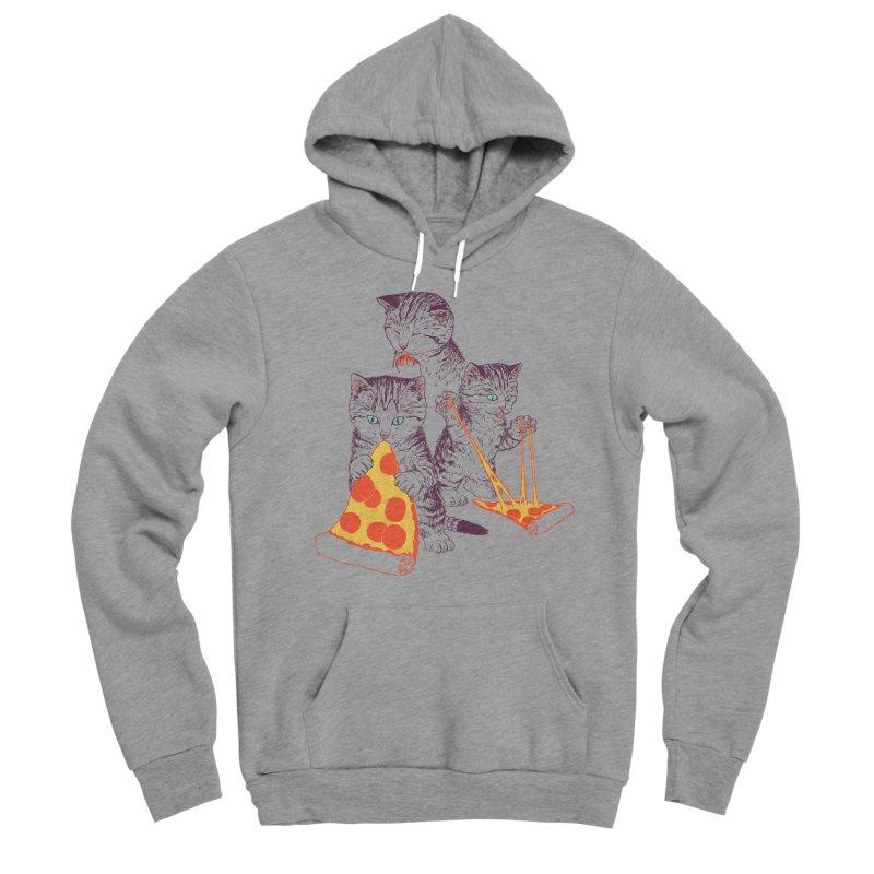Pizza Kittens Women's Sponge Fleece Pullover Hoody by Hillary White
