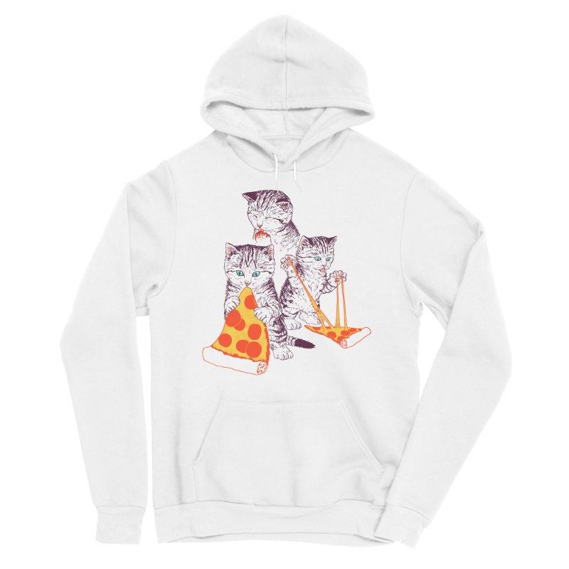 Pizza Kittens Men's Sponge Fleece Pullover Hoody by Hillary White