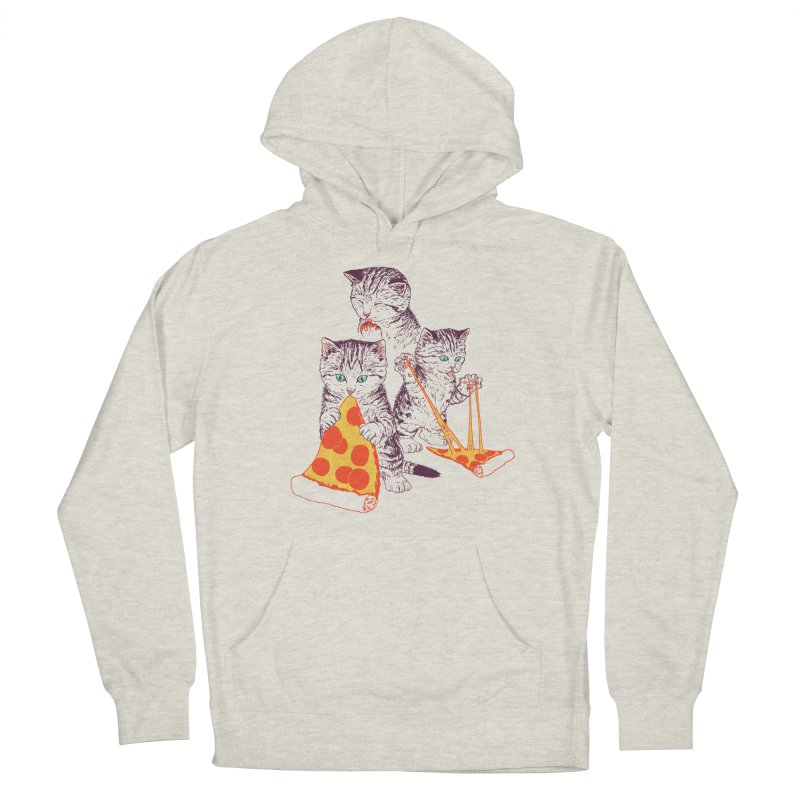 Pizza Kittens Women's French Terry Pullover Hoody by Hillary White