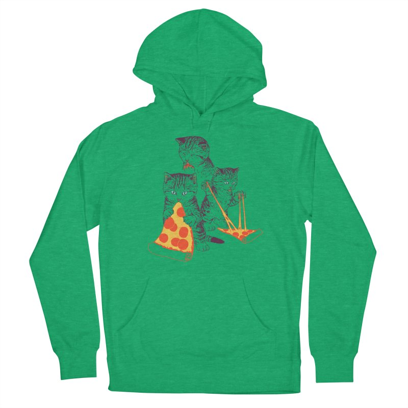 Pizza Kittens Men's French Terry Pullover Hoody by Hillary White