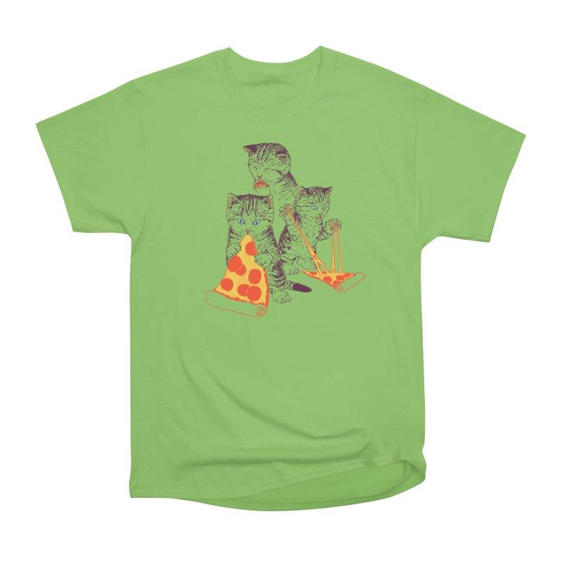 Pizza Kittens Men's Heavyweight T-Shirt by Hillary White