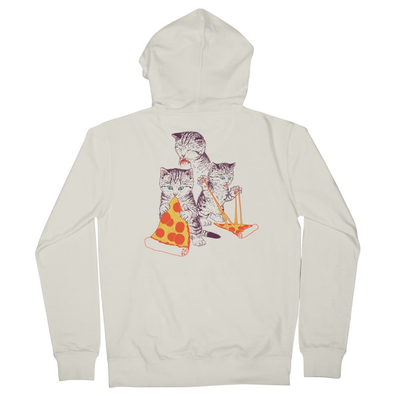 Pizza Kittens Men's French Terry Zip-Up Hoody by Hillary White