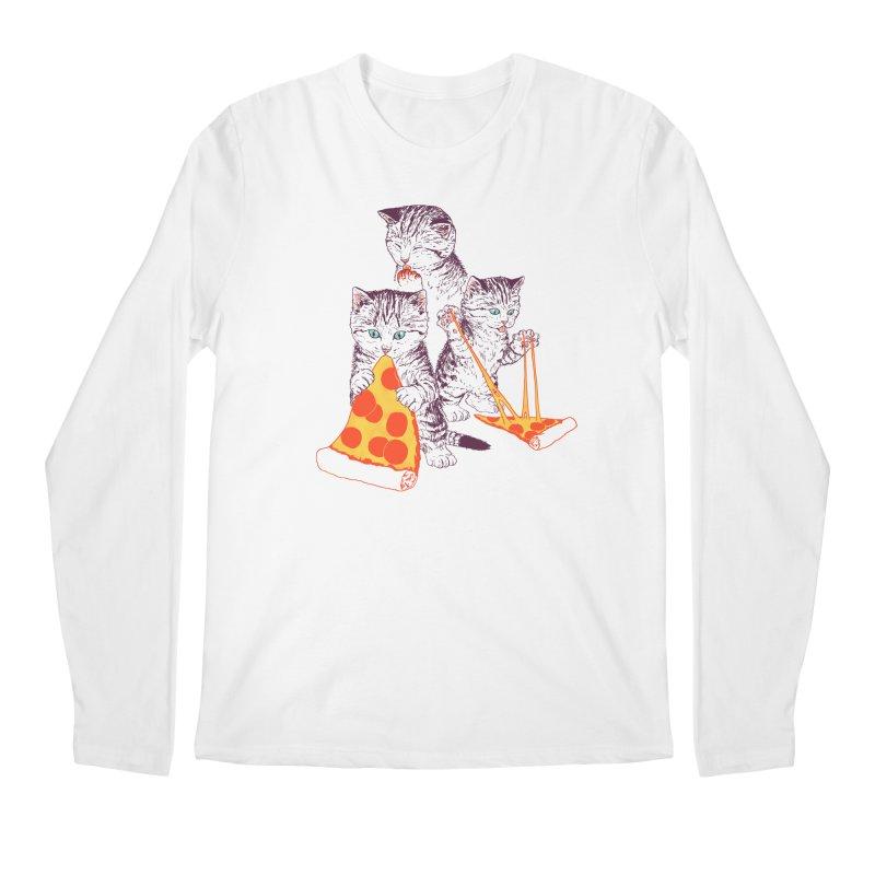 Pizza Kittens Men's Regular Longsleeve T-Shirt by Hillary White