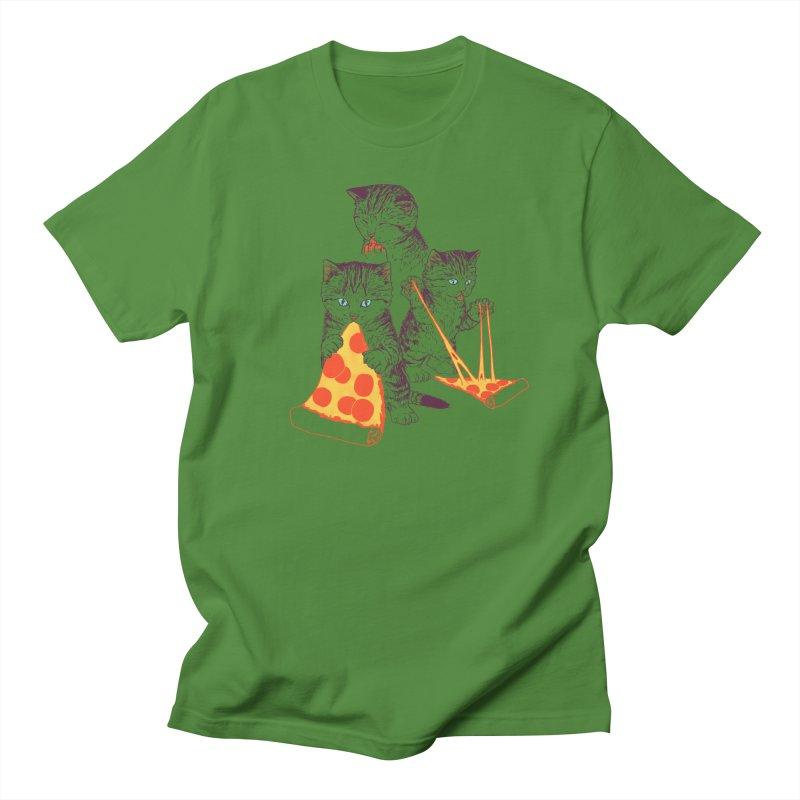 Pizza Kittens Men's Regular T-Shirt by Hillary White