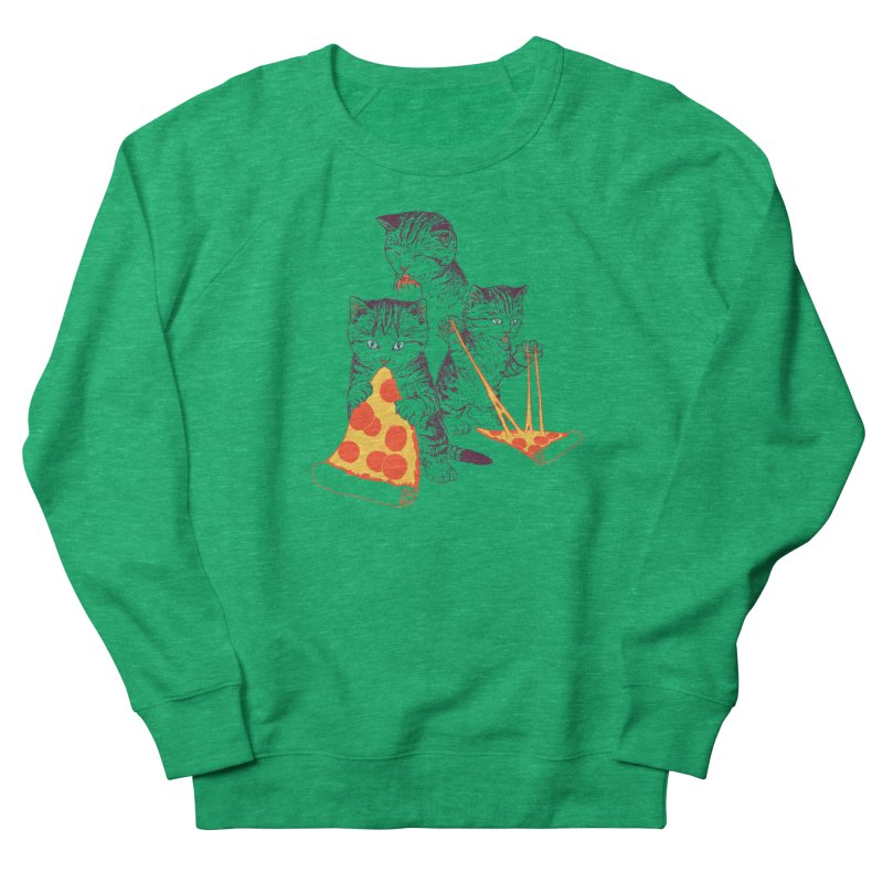 Pizza Kittens Men's French Terry Sweatshirt by Hillary White